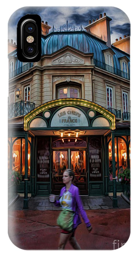 Cafe Francais IPhone X Case featuring the photograph Coffeehouse - The Sidewalk Cafe II by Lee Dos Santos