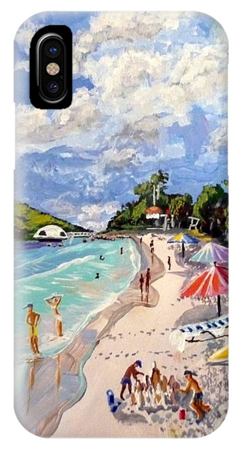 Caribbean IPhone X Case featuring the painting Coki Beach by David Francke