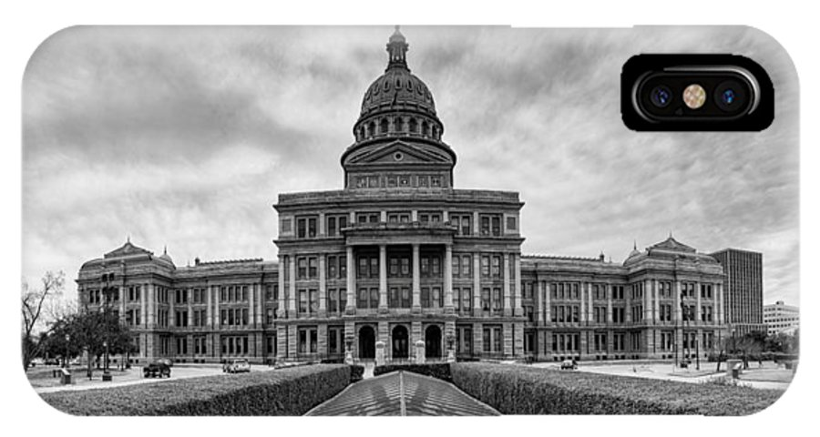Texas State Capitol IPhone X Case featuring the photograph Cold And Blustery Day At The Texas State Capitol Austin by Silvio Ligutti