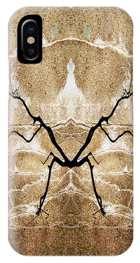 Abstracts IPhone X Case featuring the photograph Cold Whispers by Jan Amiss Photography