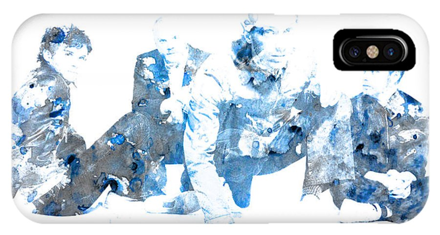 Coldplay IPhone X Case featuring the digital art Coldplay by Brian Reaves
