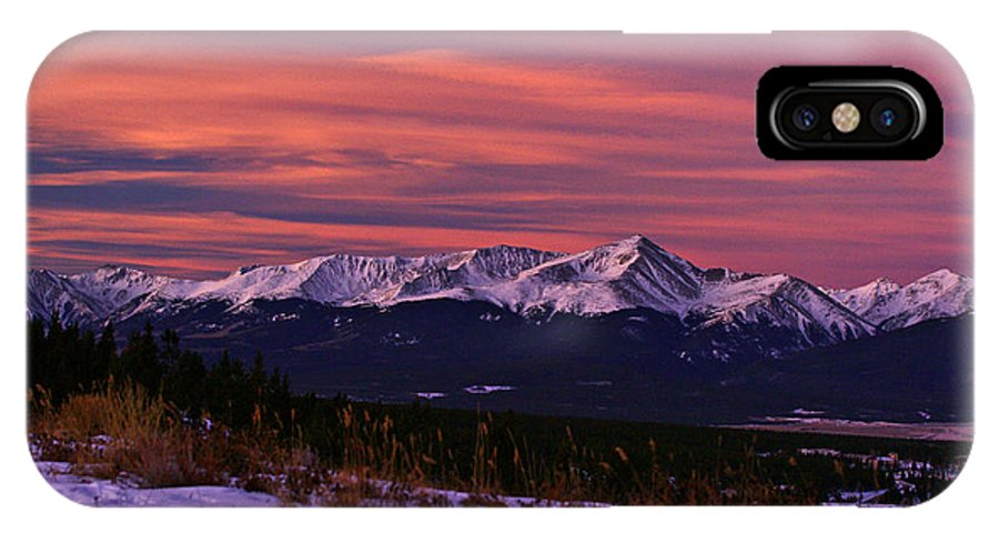 Colorado IPhone X Case featuring the photograph Color Of Dawn by Jeremy Rhoades