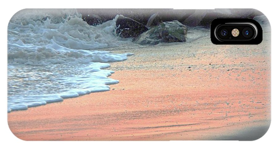 Color IPhone X Case featuring the painting Color Of Sand Cape May Nj by Eric Schiabor
