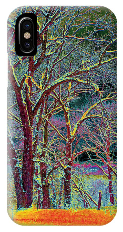 Trees IPhone X Case featuring the photograph Color Storm by Bill Jonas