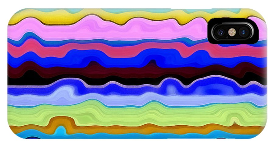 Textural IPhone X Case featuring the painting Color Waves No. 4 by Michelle Calkins