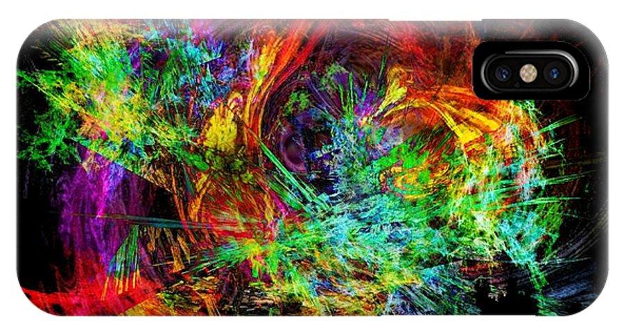 Kathie Chicoine Digital Art IPhone X Case featuring the digital art Color Wheel by Kathie Chicoine