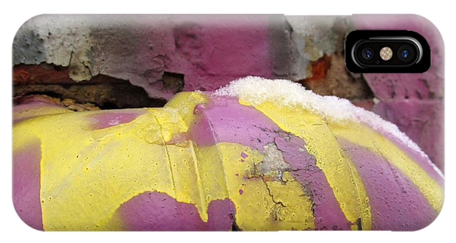 Graffiti IPhone X Case featuring the photograph Color With Snow by Alfred Ng