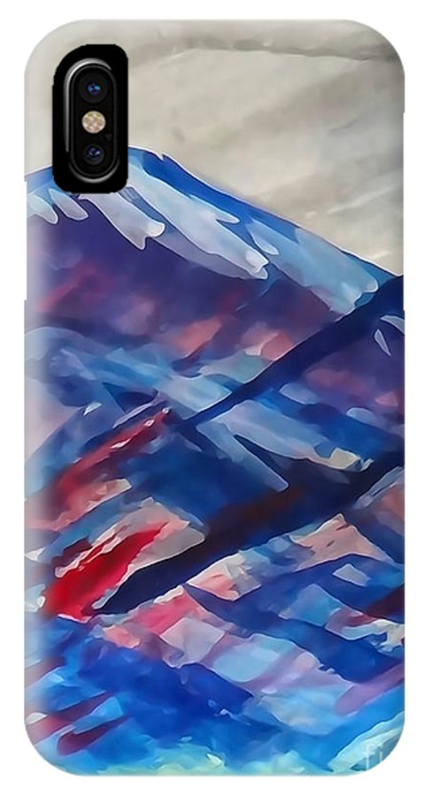 Diane Dimarco Art - Mountain IPhone X / XS Case featuring the painting Colorado by Diane DiMarco