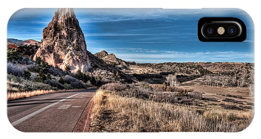 Colorado Highway IPhone X Case featuring the photograph Colorado Highway by Wolfgang Hauerken