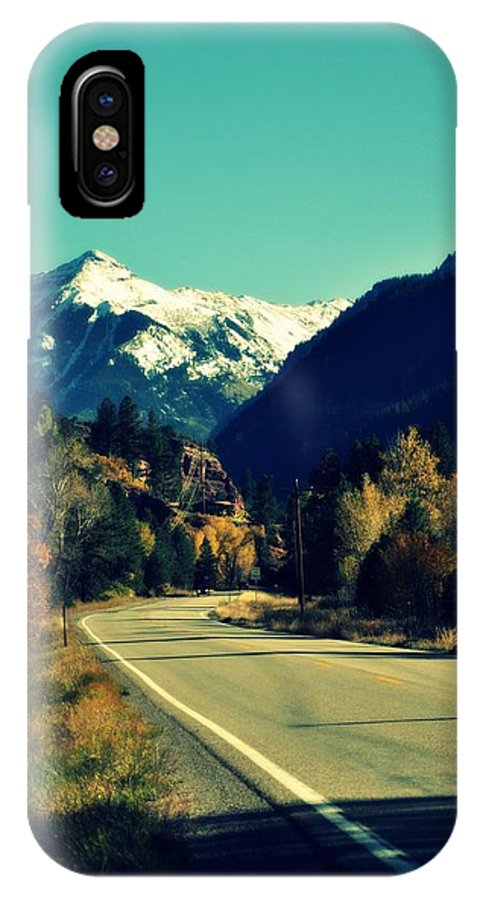 Colorado IPhone X Case featuring the photograph Colorado Hwy by Holly Storz