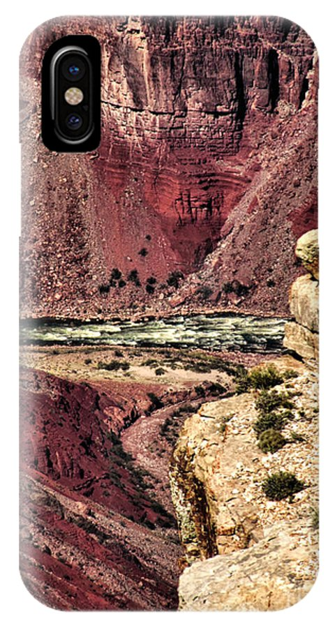 Colorado River IPhone X Case featuring the photograph Colorado River. Grand Canyon by Jennie Breeze
