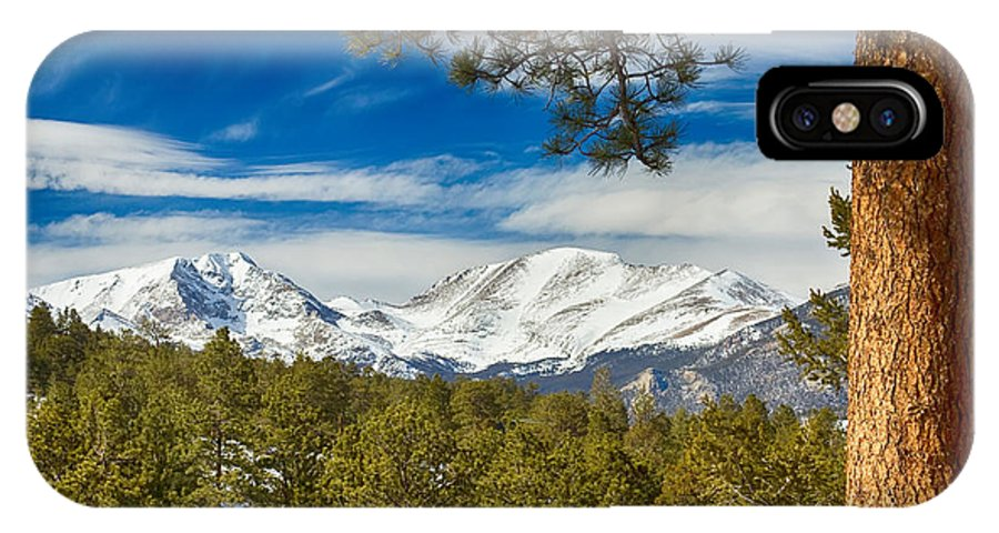 Rockies IPhone X / XS Case featuring the photograph Colorado Rocky Mountain View by James BO Insogna