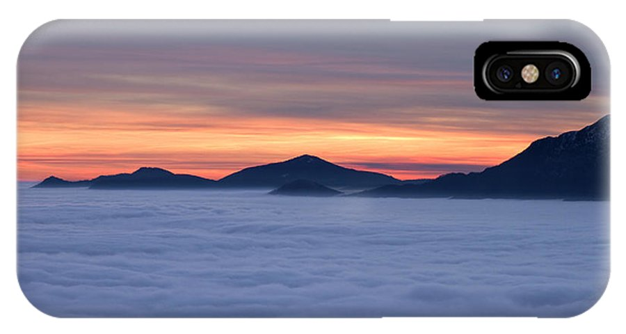Sunset IPhone X Case featuring the photograph Colored Sunset by Maurizio Bacciarini