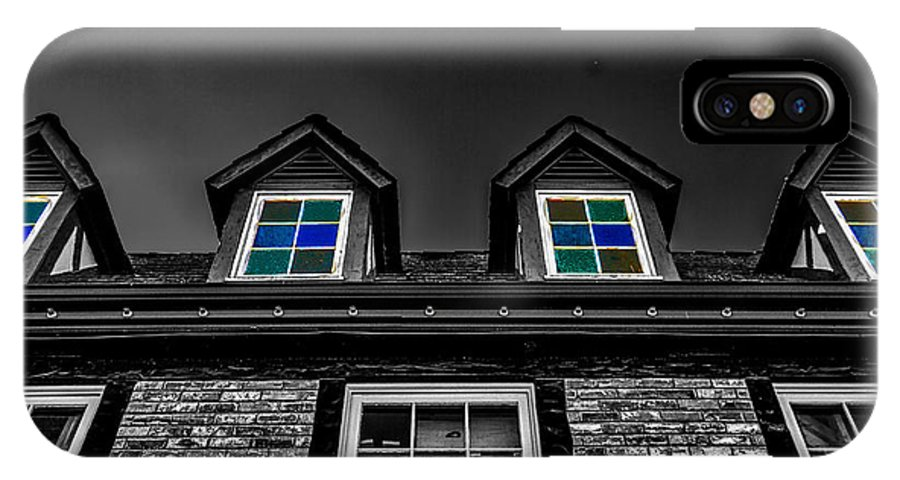 Colored Windows IPhone X Case featuring the photograph Colored Windows by Mitch Shindelbower