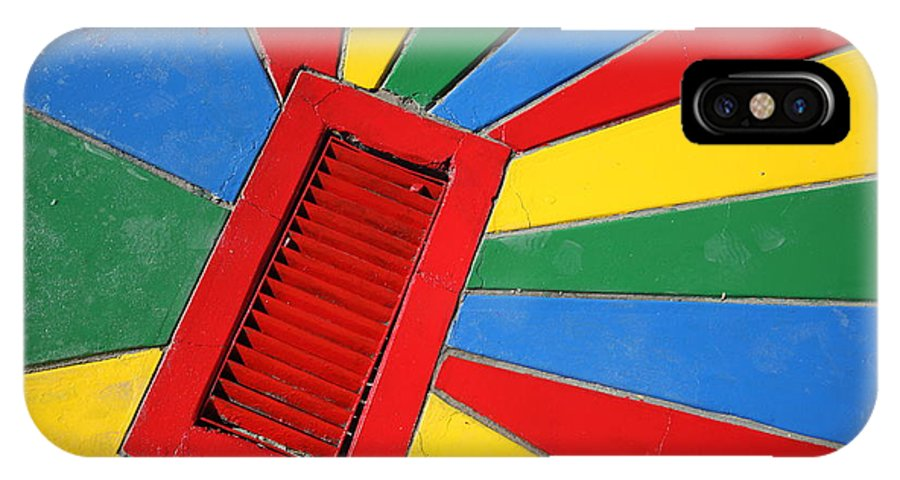 Drain IPhone X Case featuring the photograph Colorful Drain by James Brunker