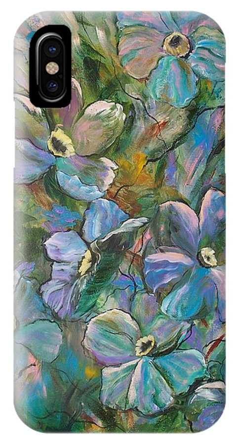 Flowers IPhone X Case featuring the painting Colorful Floral by Roberta Rotunda