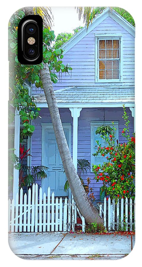 Rebecca Korpita IPhone X Case featuring the photograph Colorful Key West Cottage by Rebecca Korpita