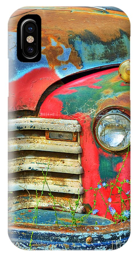 Truck IPhone X Case featuring the photograph Colorful Vintage Truck by Mark Skalny