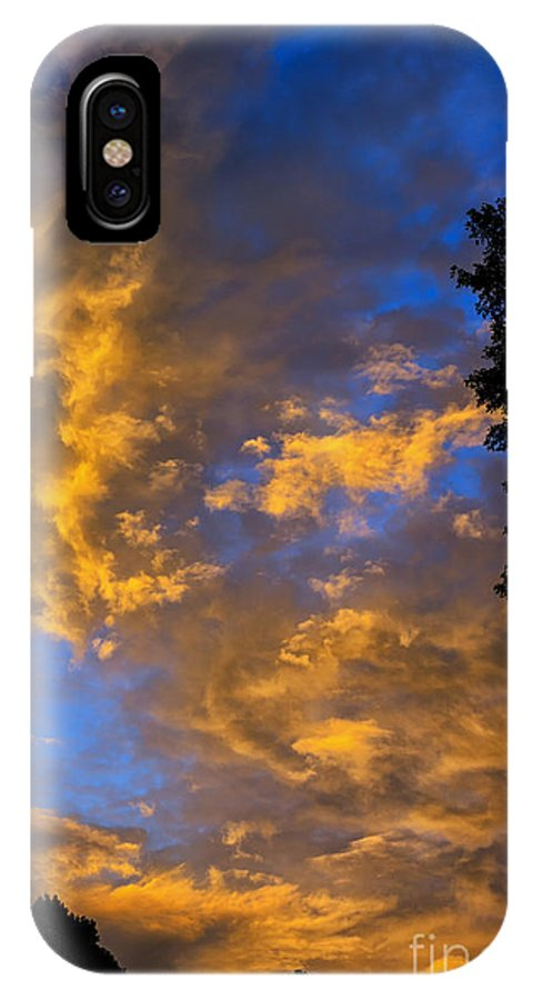 Sunrise IPhone X Case featuring the photograph Colorful Western Sky At Sunrise by Thomas R Fletcher