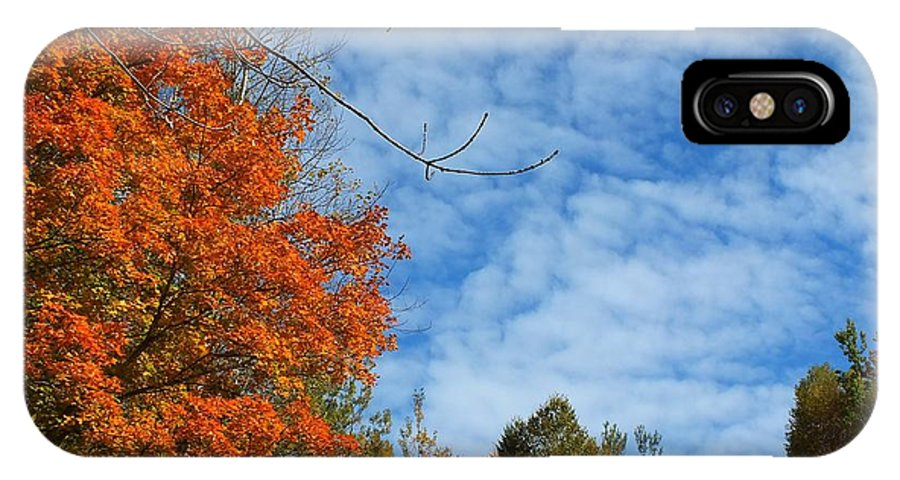 New England IPhone X Case featuring the photograph Colors Of Fall 2 by Gene Cyr