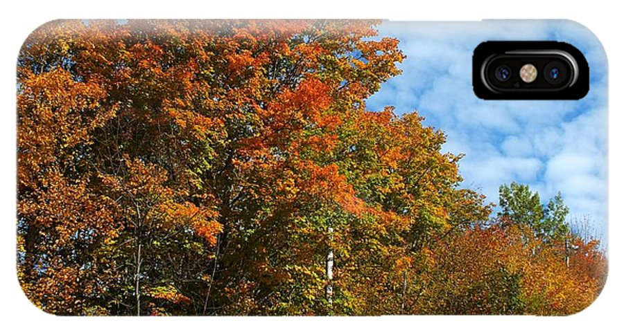 New England IPhone X Case featuring the photograph Colors Of Fall 4 by Gene Cyr