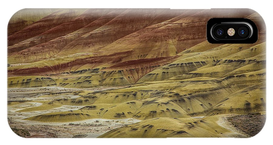 Painted Hills Oregon IPhone X Case featuring the photograph Colors Of Painted Hills by Lee Sage