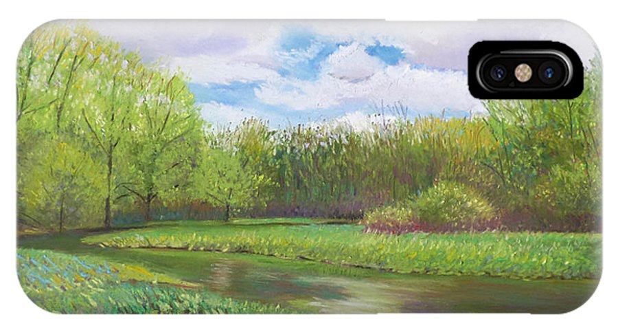 Spring IPhone X Case featuring the pastel Colors Of Spring At Millbrook Marsh by Denise Wagner