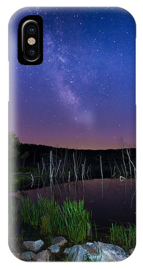 Stars IPhone X Case featuring the photograph Colors Of The Night by Poliana DeVane