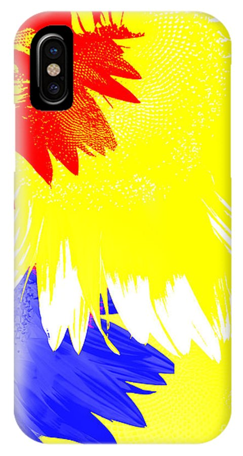 Digital IPhone X Case featuring the digital art Colors Within by Edmund Nagele