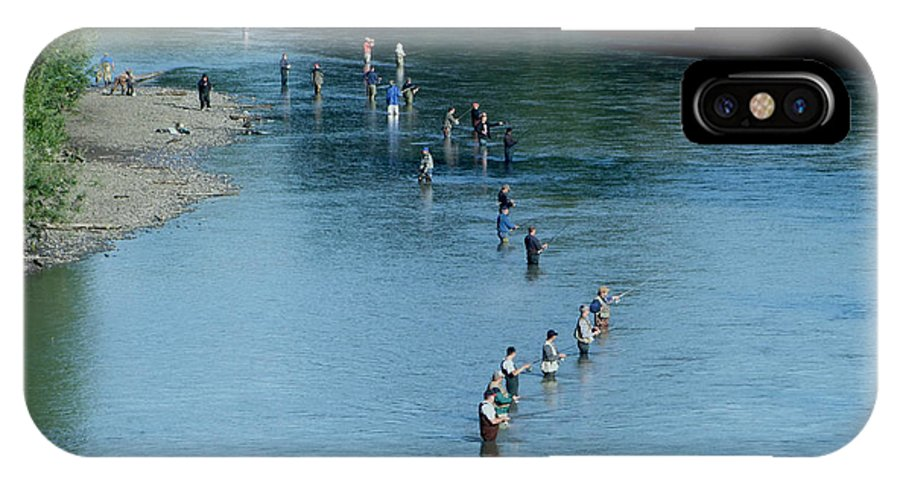 Fishing IPhone X / XS Case featuring the photograph Combat Fishing by Ron Roberts