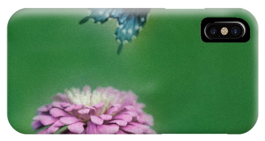 Butterfly IPhone X Case featuring the digital art Come Fly Away by Anita Miller