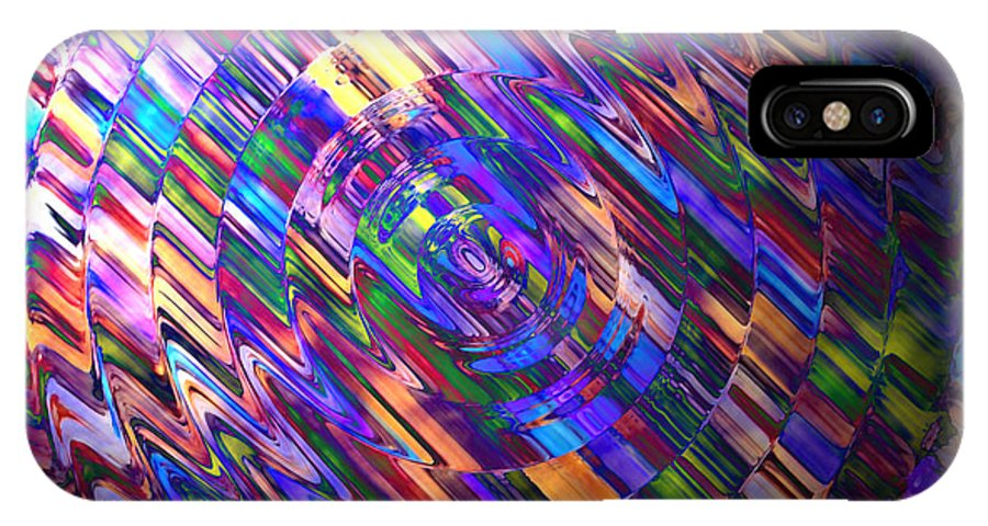 Colour IPhone X Case featuring the painting Comet Of Colour by Alli Cullimore