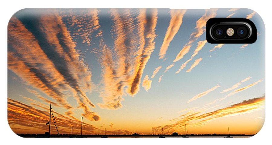 Sunset IPhone X Case featuring the photograph Comet Sunset by Nick Nicks