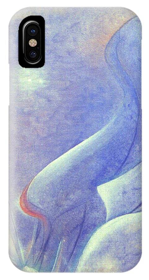 Blue IPhone Case featuring the painting Comfort by Christina Rahm Galanis