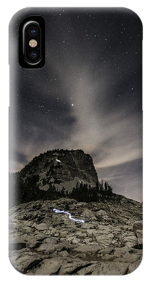 Artist Point IPhone X Case featuring the photograph Coming Down by Paul Conrad