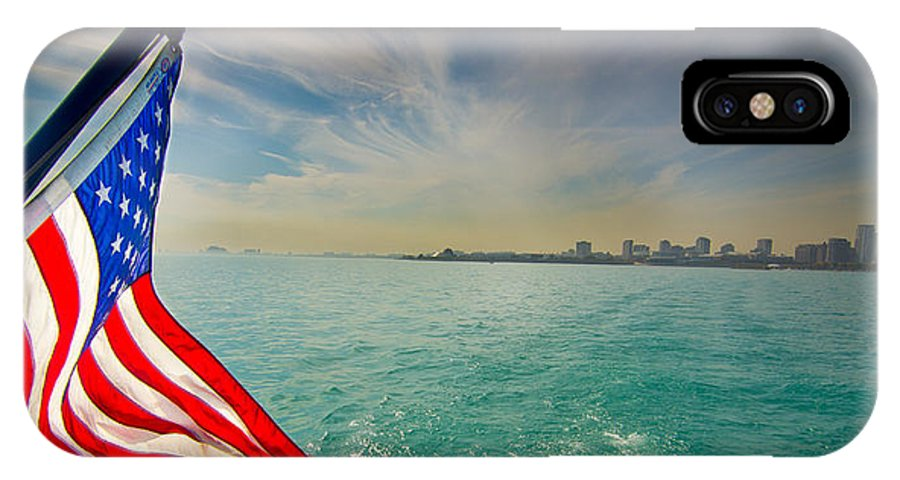 Usa Flag IPhone X Case featuring the photograph Coming To America by Hasnain Shabbir