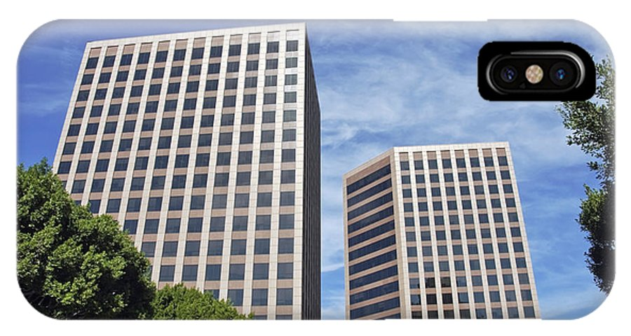 Commercial IPhone X Case featuring the photograph Commercial Office Building by David Zanzinger