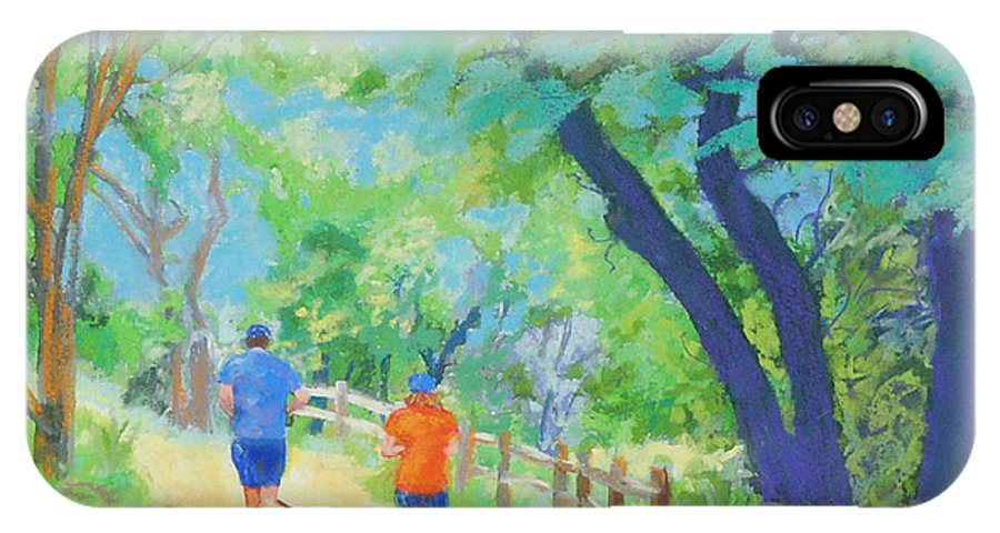 Hamilton Greenbelt IPhone X Case featuring the painting Community On The Run by Patricia Collins-Perkey