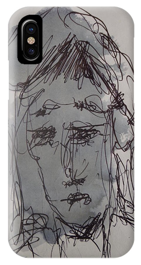 Doodle IPhone X Case featuring the photograph Composition 63 by Edward Wolverton