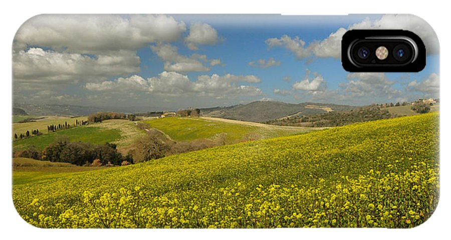 Tuscany IPhone X Case featuring the photograph Con Te Partiro by Jim Southwell
