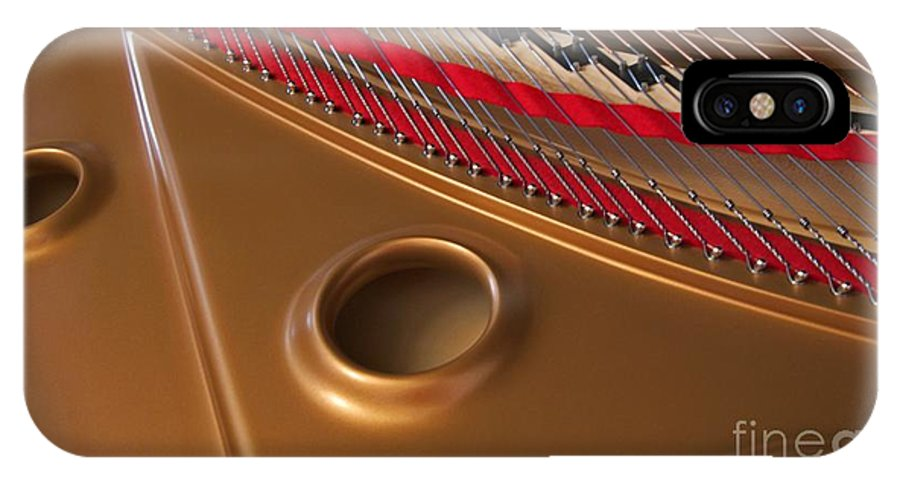 Piano IPhone X Case featuring the photograph Concert Grand by Ann Horn
