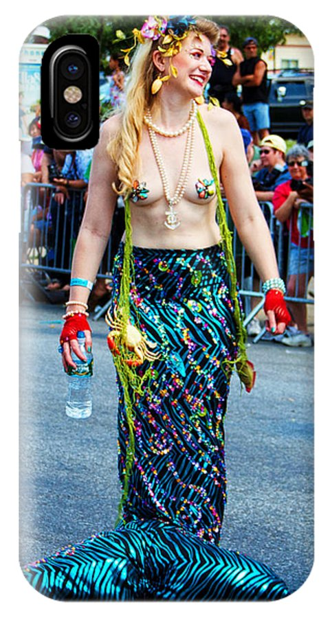 Mermaid Coney Island Parade 2012 Woman Lady IPhone X Case featuring the photograph Coney Island Mermaid by Alice Gipson