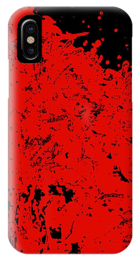 Chaos IPhone X Case featuring the digital art Chaos by James Temple