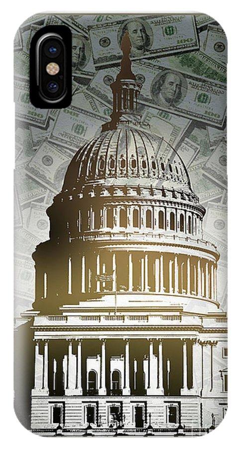 Congress IPhone X Case featuring the digital art Congress-2 by Chris Van Es