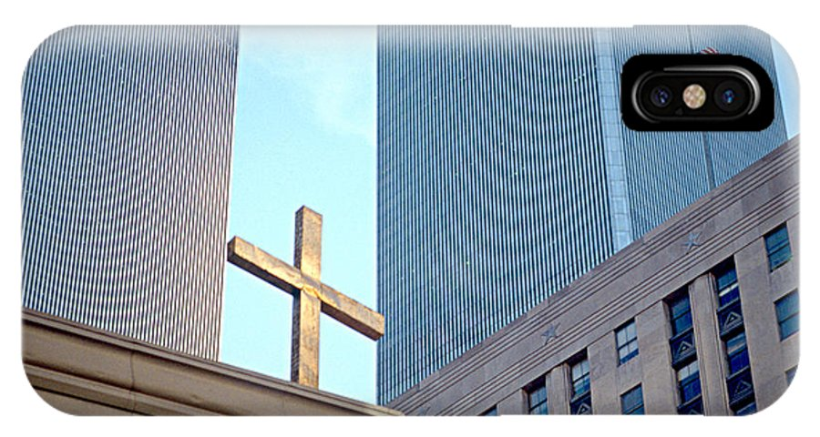 Wtc IPhone X Case featuring the photograph Connected By The Cross by Chuck Spang
