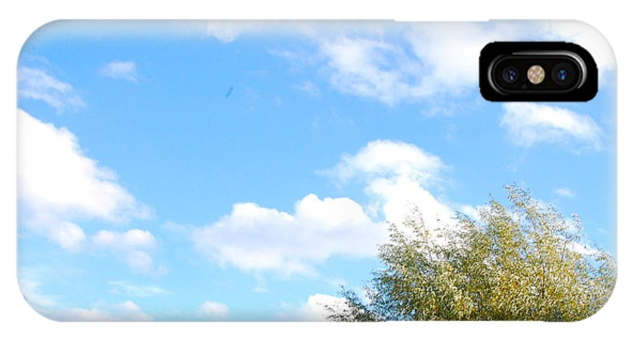 Sky IPhone X Case featuring the photograph Contemplation 2 by Karen Weetman