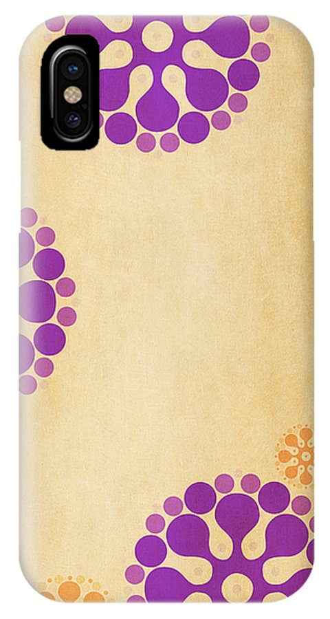 Contemporary IPhone X Case featuring the mixed media Contemporary Dandelions 2 Part 3 Of 3 by Angelina Vick