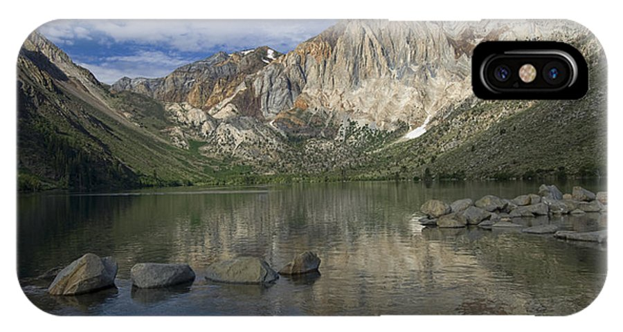 Convict Lake IPhone X Case featuring the photograph Convict Lake Reflection by Sandra Bronstein