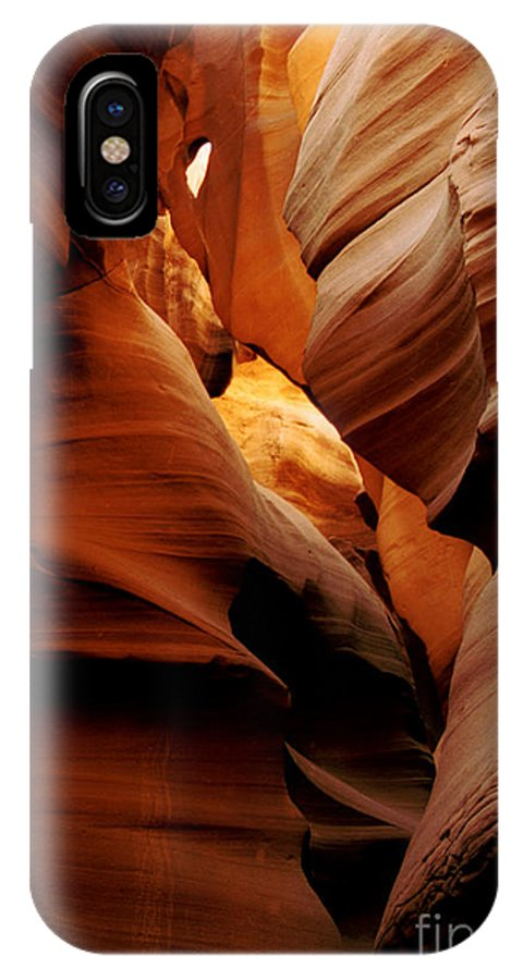 Antelope Canyon IPhone X Case featuring the photograph Convolusions by Kathy McClure