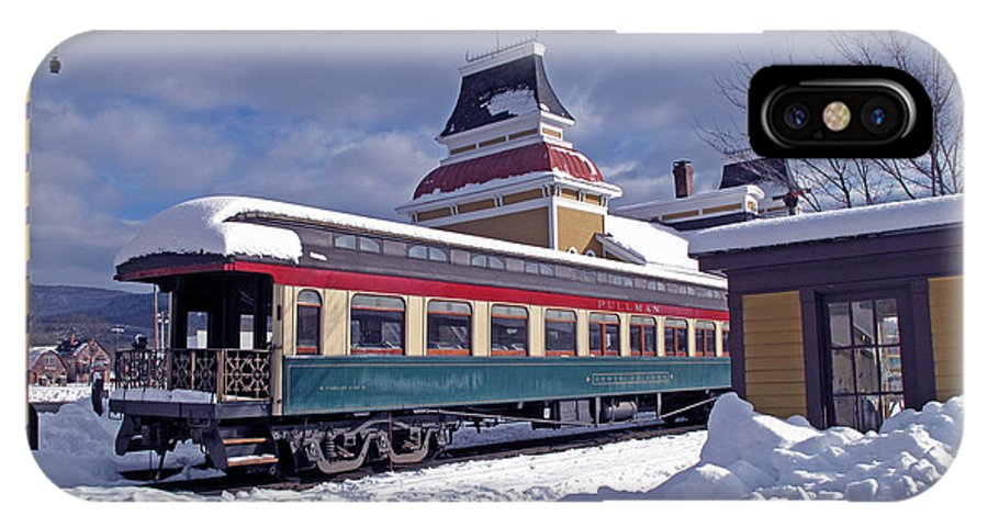 Landscape IPhone X Case featuring the photograph Conway Railroad by Barbara McDevitt